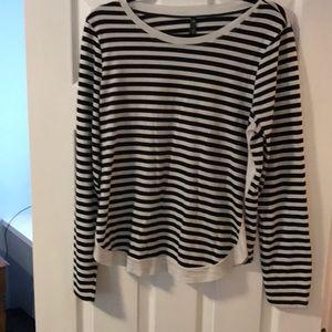 The Limited/ Eva Longoria B & W striped blouse